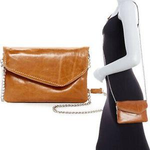 Hobo International Daria Caramel Leather Wristlet